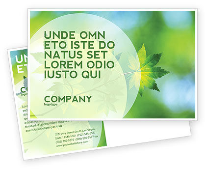 Nature & Environment: Flora Postcard Template #02215