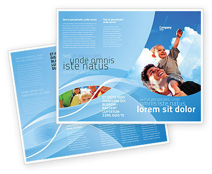 Father and Son Brochure Template