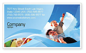 People: Father and Son Business Card Template #02217