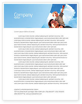 People: Father and Son Letterhead Template #02217