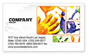 Paint Business Card Template, 02218, Education & Training — PoweredTemplate.com