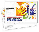 Education & Training: Paint Postcard Template #02218