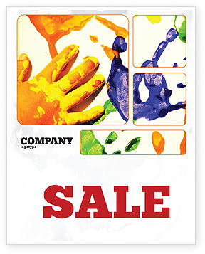 Education & Training: Paint Sale Poster Template #02218