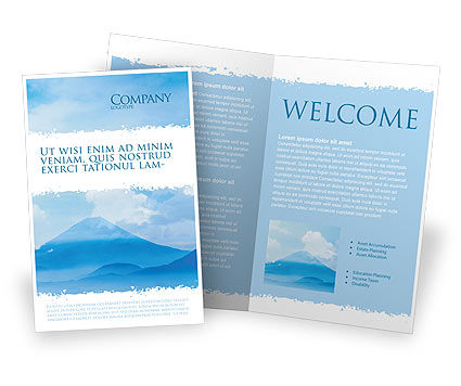 Fujiyama Brochure Template, 02226, Nature & Environment — PoweredTemplate.com