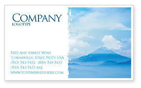 Nature & Environment: Fujiyama Business Card Template #02226