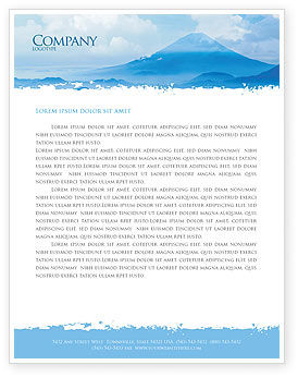 Nature & Environment: Fujiyama Letterhead Template #02226