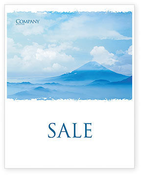 Fujiyama Sale Poster Template, 02226, Nature & Environment — PoweredTemplate.com