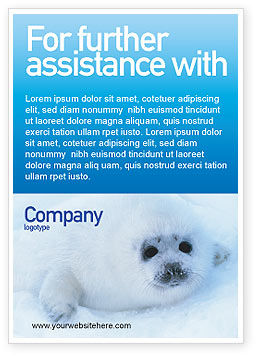 Fur-Seal Ad Template, 02230, Agriculture and Animals — PoweredTemplate.com