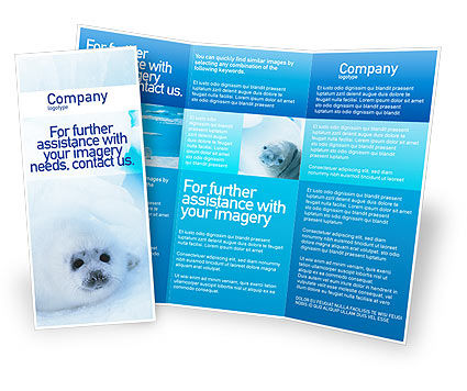 Fur Seal Brochure Template, 02230, Agriculture And Animals U2014  PoweredTemplate.com  Ms Word Pamphlet Template