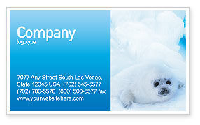 Fur-Seal Business Card Template, 02230, Agriculture and Animals — PoweredTemplate.com