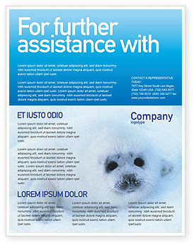 Fur-Seal Flyer Template, 02230, Agriculture and Animals — PoweredTemplate.com