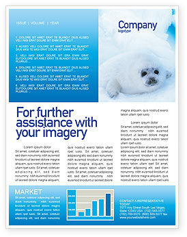 Fur-Seal Newsletter Template, 02230, Agriculture and Animals — PoweredTemplate.com