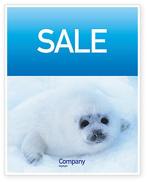 Agriculture and Animals: Fur-Seal Sale Poster Template #02230