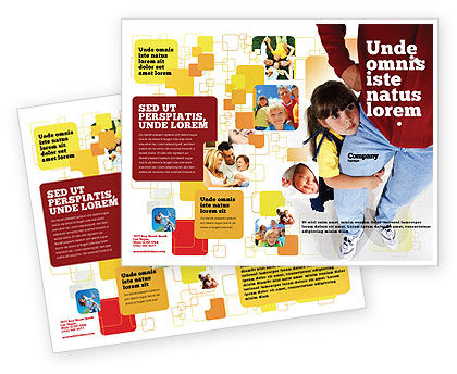 Paternal Care Brochure Template, 02232, People — PoweredTemplate.com