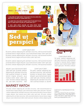 Paternal Care Newsletter Template, 02232, People — PoweredTemplate.com