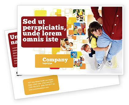 People: Paternal Care Postcard Template #02232