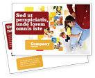 People: Paternal Care Postcard Template #02232
