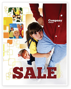 People: Paternal Care Sale Poster Template #02232