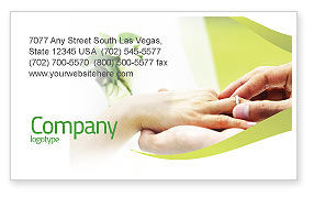 Wedding Vows Business Card Template, 02238, Holiday/Special Occasion — PoweredTemplate.com