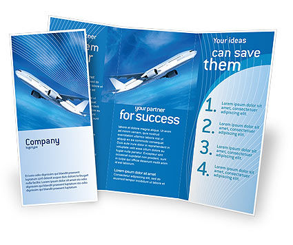 Cars/Transportation: Airship Brochure Template #02241