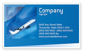 Cars/Transportation: Airship Business Card Template #02241