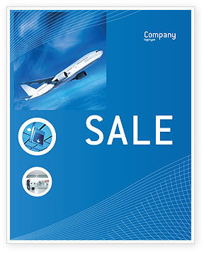 Airship Sale Poster Template, 02241, Cars/Transportation — PoweredTemplate.com