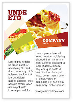 Food & Beverage: Italiaans Eten Advertentie Template #02244