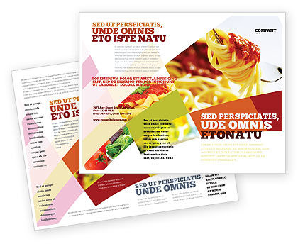 Italian food brochure template design and layout download for Free food brochure templates