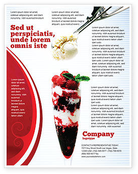 Food & Beverage: Raspberry Ice Cream Flyer Template #02247