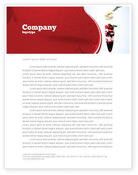 Raspberry Ice Cream Letterhead Template, 02247, Food & Beverage — PoweredTemplate.com