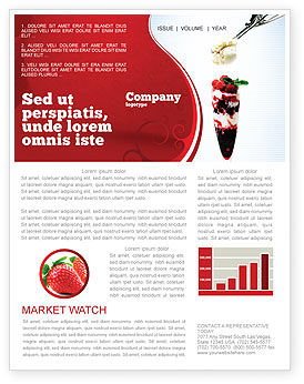 Food & Beverage: Raspberry Ice Cream Newsletter Template #02247
