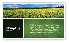 Agriculture and Animals: Grain Business Card Template #02248