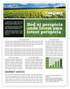 Grain Newsletter Template, 02248, Agriculture and Animals — PoweredTemplate.com