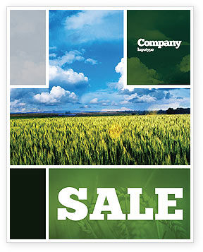Agriculture and Animals: Grain Sale Poster Template #02248