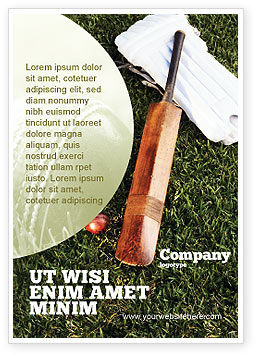 Sports: Cricket Field Ad Template #02251