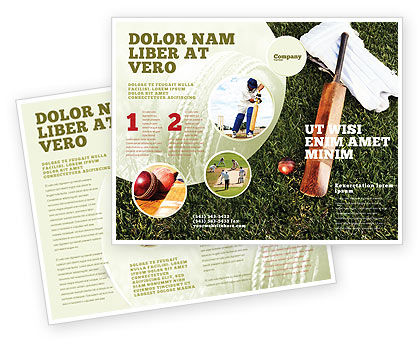 Sports: Cricket Field Brochure Template #02251