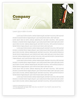 Cricket Field Letterhead Template, 02251, Sports — PoweredTemplate.com