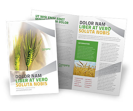 Work On The Farm Brochure Template, 02253, Agriculture and Animals — PoweredTemplate.com