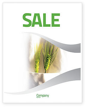 Agriculture and Animals: Work On The Farm Sale Poster Template #02253