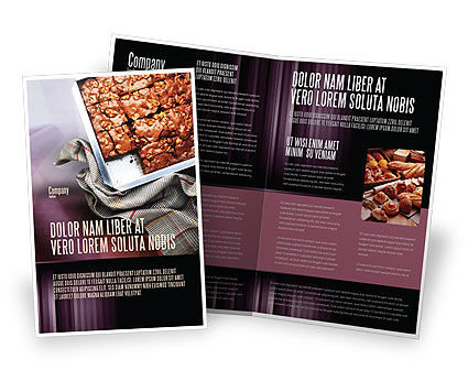 Food & Beverage: Pie In Baking Tray Brochure Template #02256