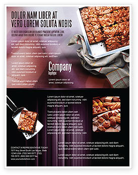 Pie In Baking Tray Flyer Template, 02256, Food & Beverage — PoweredTemplate.com