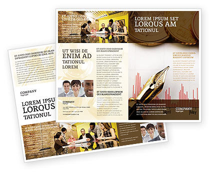 Financial/Accounting: Financial Review Brochure Template #02260
