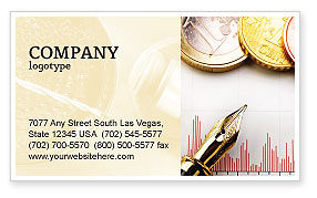 Financial/Accounting: Financial Review Business Card Template #02260
