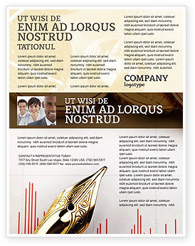 Financial Review Flyer Template, 02260, Financial/Accounting — PoweredTemplate.com