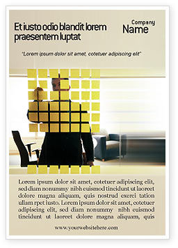 Business Planning In The Office Ad Template, 02261, Business — PoweredTemplate.com