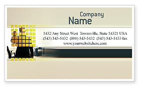 Business: Business Planning In The Office Business Card Template #02261