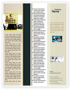 Business: Modelo de Folheto - planejamento de negócios no escritório #02261