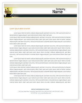 Business: Business Planning In The Office Letterhead Template #02261