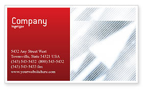 Technology, Science & Computers: Abstract Pointers On Grid Surface Business Card Template #02264
