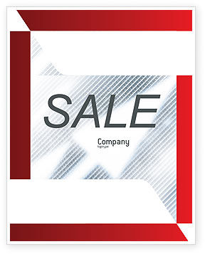 Technology, Science & Computers: Abstract Pointers On Grid Surface Sale Poster Template #02264